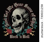 Rock In Roll  Skull And Roses...