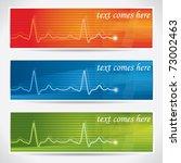 abstract  vector cardiogram... | Shutterstock .eps vector #73002463