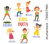 kids  children  boys and girls... | Shutterstock .eps vector #730027984