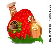 fairy house in form of ripe red ... | Shutterstock .eps vector #730035328