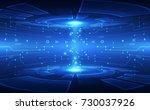 abstract vector blue technology ... | Shutterstock .eps vector #730037926