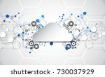 abstract cloud technology in... | Shutterstock .eps vector #730037929