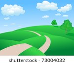 rolling hills  landscape   Shutterstock .eps vector #73004032