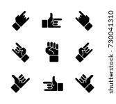 hand gestures icon set | Shutterstock .eps vector #730041310