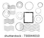 grunge post stamps collection ... | Shutterstock .eps vector #730044010