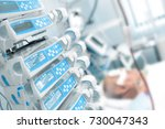 comatose patient in the... | Shutterstock . vector #730047343