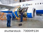replacing the engine on the... | Shutterstock . vector #730049134