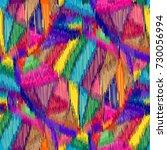 seamless ikat pattern. abstract ... | Shutterstock . vector #730056994