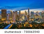 Bangkok City And Sunset View...