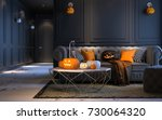 Halloween Party At Night  In...
