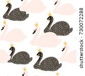 seamless childish pattern with... | Shutterstock .eps vector #730072288