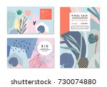 creative sale headers or... | Shutterstock .eps vector #730074880