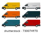 commercial vehicle or logistic... | Shutterstock .eps vector #730074970