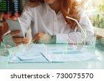 multi exposure image of hands... | Shutterstock . vector #730075570