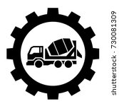 cement industry icon  vector... | Shutterstock .eps vector #730081309