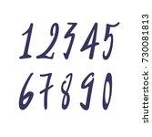 element  set of ten numbers... | Shutterstock .eps vector #730081813