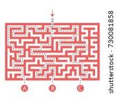 labyrinth shape design element. ... | Shutterstock .eps vector #730081858