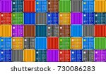 stack of containers in harbor....   Shutterstock .eps vector #730086283
