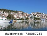skopelos island greece... | Shutterstock . vector #730087258