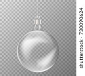 crystal ball hanging decoration ... | Shutterstock .eps vector #730090624