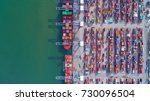 container container ship in... | Shutterstock . vector #730096504