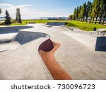 Skateboarding Park At The Ocea...