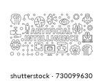 artificial intelligence vector... | Shutterstock .eps vector #730099630
