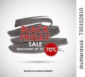 vector black friday sale... | Shutterstock .eps vector #730102810