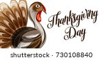 happy thanksgiving day greeting ... | Shutterstock .eps vector #730108840