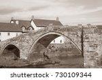 stone bridge at llanrwst  wales ...