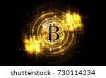 bitcoin gold money futuristic... | Shutterstock .eps vector #730114234