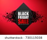 black friday sale abstract... | Shutterstock .eps vector #730115038
