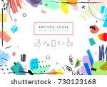 creative universal floral... | Shutterstock .eps vector #730123168