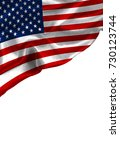 grunge colorful flag america... | Shutterstock . vector #730123744