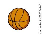 cartoon of basketball   Shutterstock .eps vector #730126960