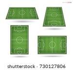 soccer field or football field... | Shutterstock .eps vector #730127806