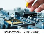 electronic computer hardware... | Shutterstock . vector #730129804