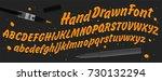 hand drawn abc set. brush... | Shutterstock .eps vector #730132294