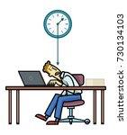 deadline. employee or freelance ...   Shutterstock .eps vector #730134103