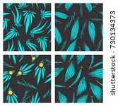 assembly of patterns in flower... | Shutterstock .eps vector #730134373