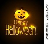 happy halloween vector... | Shutterstock .eps vector #730135690