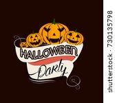 happy halloween vector... | Shutterstock .eps vector #730135798
