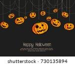 happy halloween vector... | Shutterstock .eps vector #730135894