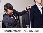 portrait of modern tailor... | Shutterstock . vector #730137250