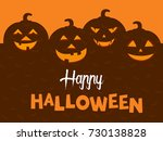 happy halloween vector... | Shutterstock .eps vector #730138828