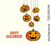 happy halloween vector... | Shutterstock .eps vector #730139194