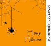 happy halloween vector... | Shutterstock .eps vector #730139209