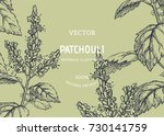 vintage floral background with... | Shutterstock .eps vector #730141759
