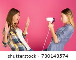 irlfriends are playing with a... | Shutterstock . vector #730143574