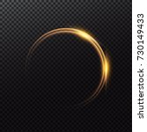 shining circle frame with light ... | Shutterstock .eps vector #730149433